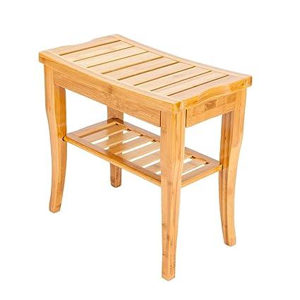 Cool Amazon Com Frithjill Bamboo Bath Stool Waterproof Bamboo Theyellowbook Wood Chair Design Ideas Theyellowbookinfo