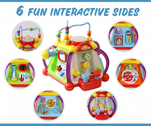 408641d64694 ToyThrill 15 Game Baby Activity Cube Play Center – Happy Small World ...