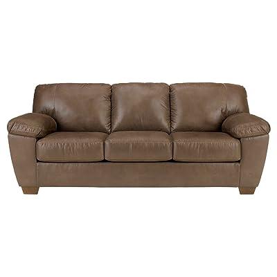 Ashley Furniture Signature Design - Amazon 3 Seat Sofa - 3 Loose Seat Cushions - Contemporary - Walnut
