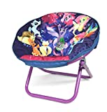 Collapsible,Portable,Super Cute,Fun and Comfortable My Little Pony Movie Kids Saucer Chair,Makes the Perfect Accent to Kids Room or Playroom,Purple/Multicolor