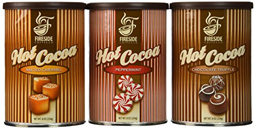Hot Cocoa Gift Set By Fireside Coffee Salted Caramel Chocolate Truffle Peppermint