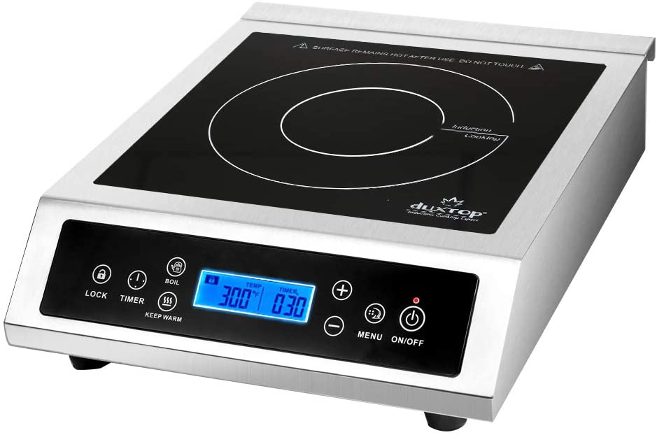 Duxtop LCD P961LS Professional Portable Induction Cooktop Commercial Range Countertop Electric Single Burner, 1800 Watts