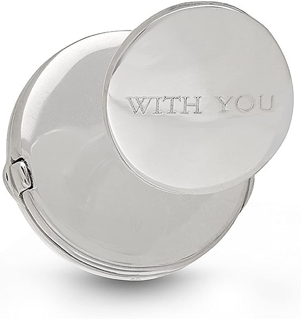 With You Lockets-Sterling Silver-Custom Photo Locket Cufflinks-That Hold Pictures For Men-The George