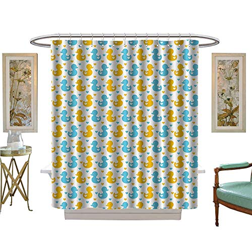 Leigh R. Avans Shower Curtains with Shower Hooks Baby Ducklingswith Cute Little Hearts Love Animals Nursery Room Satin Fabric Sets Bathroom (Silk Leigh Tie)