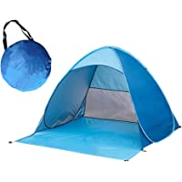 Skytower Automatic Pop Up Portable Outdoors Family Beach 2-5 Persons Tent Quick Cabana Sun UV Protection Shelter UPF 50…