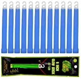 Wealers 12 Pack Light Sticks - 6'' Inch, Ultra Bright Glow In The Dark Stick with Up To 24 Hour Duration, For Emergency's, Camping, Party's, (Blue)