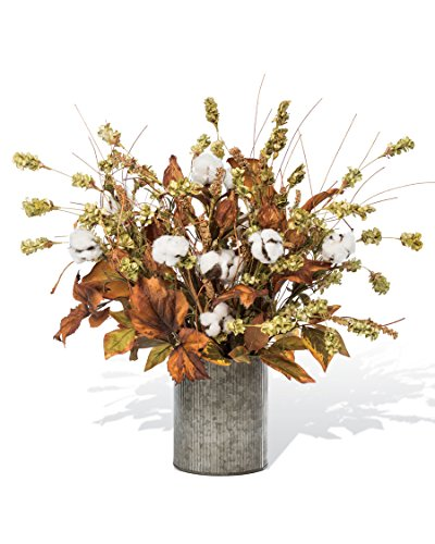 Magnolia Centerpiece (Cotton & Hops Artificial Centerpiece Arrangement)