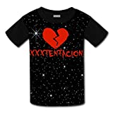 Youth Casual Rap Singer Xxxtentacion 3D Printed T-Shirts Short Sleeve Tops Tees for Boy's Girl's M