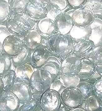 Lot de 100 pierres/billes/galets en verre transparent, forme ronde ...