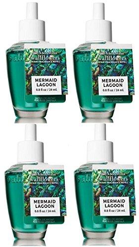 Bath and Body Works 4 Pack Mermaid Lagoon Wallflowers Fragrance Refill. 0.8 Oz