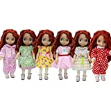 ZITA ELEMENT 5 Sets Daily Costumes Gown Clothes for 16 Inch Dolls