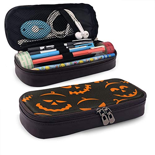 Pgonesex Scary Halloween Leather Cute Pencil Case - High Capacity Pencil Pouch Stationery Organizer Multifunction Cosmetic Makeup Bag, Perfect Holder for Pencils and Pens]()