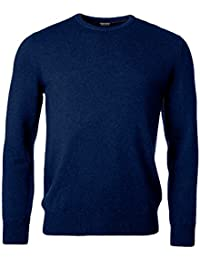 Mens Long Sleeve Crew Neck Sweater Premium Luxe Yarn
