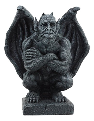 Winged Gargoyle Statue - Ebros Winged Watchman Gothic Troll Gargoyle Statue Night Sentry Guardian Gargoyle Decorative Figurine 6.5