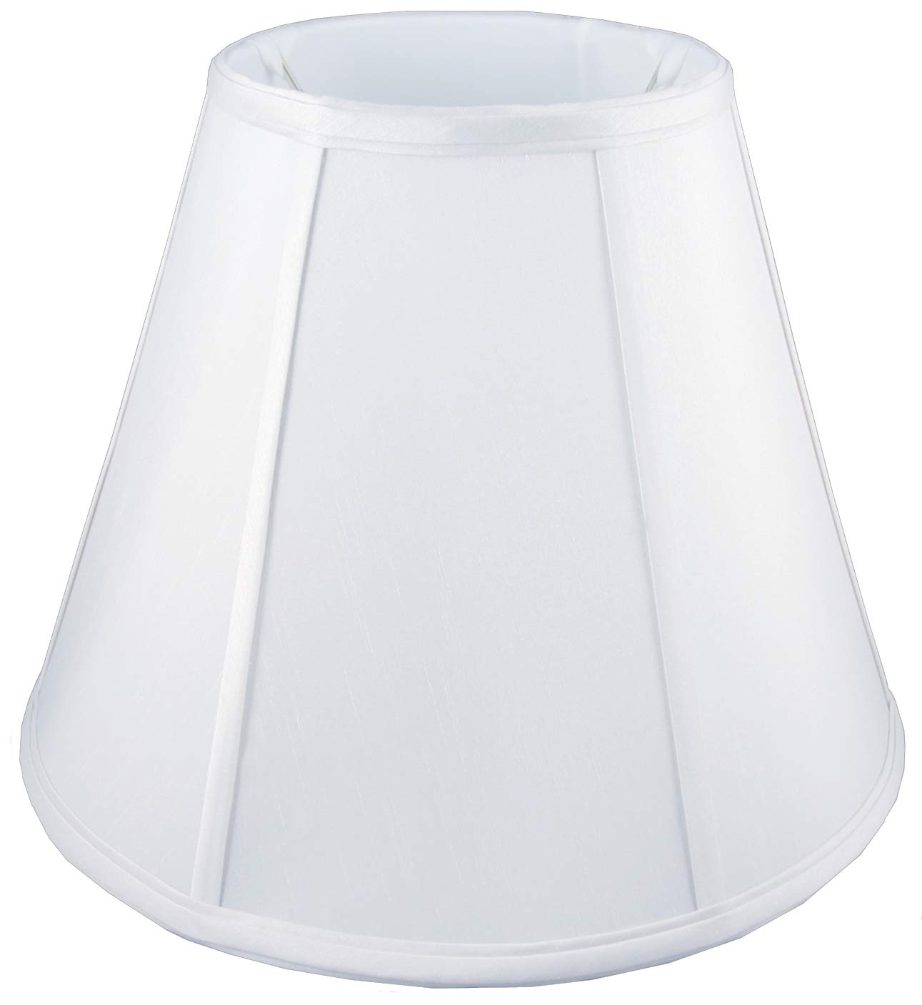 American Pride 5'' x 8'' x 7'' Round Soft Shantung Tailored Lampshade, White