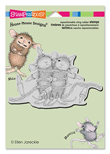 House Mouse Designs Rubber Stamp - STAMPENDOUS HMCP51 House Mouse Cling Rubber Stamp, Light Wrapping
