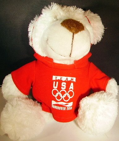 Vancouver Olympic Merchandise (2010 Vancouver Olympic Games Polar Bear with Team USA T-Shirt)