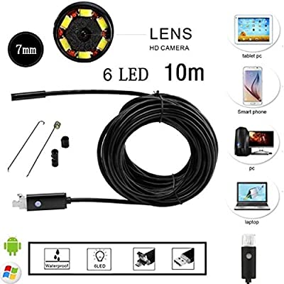 USB Endoscope Caméra 6 DEL portable Tablet Caméra Etanche Inspection Endoscope 7 mm