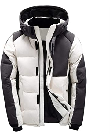 73f0f5b11e3 SUA ONG Men Winter Jacket White Duck Down Winter Coats Hooded Goose Feather  Men's Down Jacket