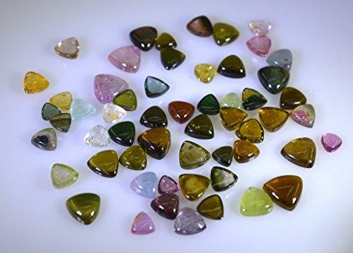 tourmaline pierres précieuses en vrac 1 pièces 4x4,5x5,6x6,7x7,8x8 mm trillions plusieurs cabochon pierres précieuses