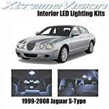 XtremeVision Jaguar S-Type 1999-2008 (14 Pieces) Cool White Premium Interior LED Kit Package + Installation Tool