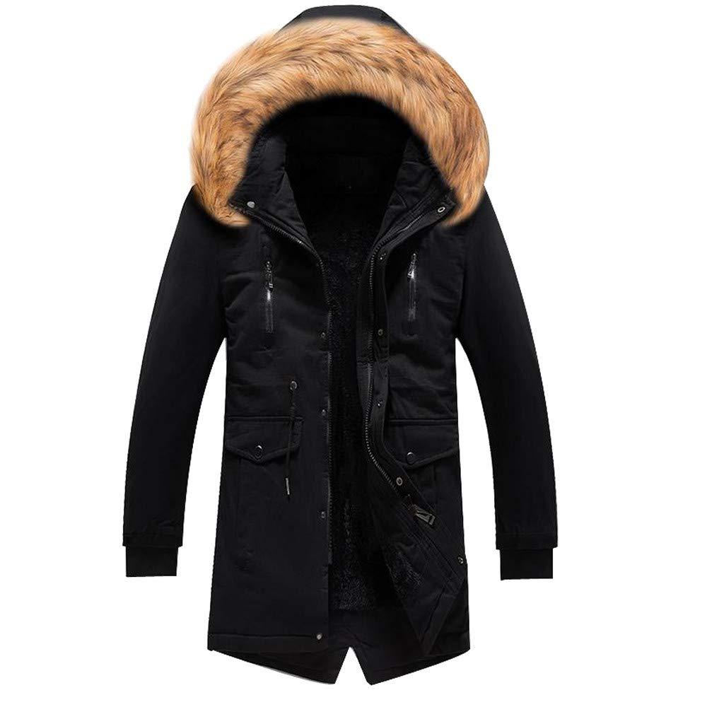 Unisex/'s Puffer Coat,Winter Warn Faux Fur Lined Down Coat Mens Womens Padded Jacket Zulmaliu