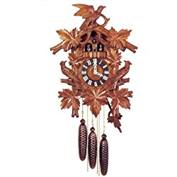 Original Eight Day Movement Musical Cuckoo Clock with Wooden Dancers and Dial 22.5 Inch
