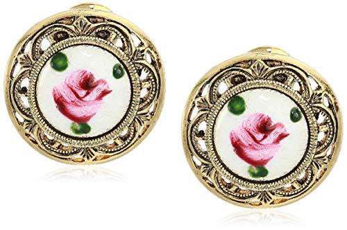 pink clip earrings - 5