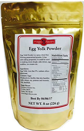 Magic Flavors Egg Yolk Powder, 8-oz Pouch (Egg White Powder Vs Egg White Liquid)