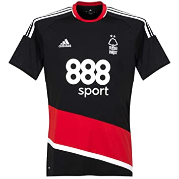 Adidas Nottingham - Camiseta del Bosque 2016 2017, Hombre, Negro, Small