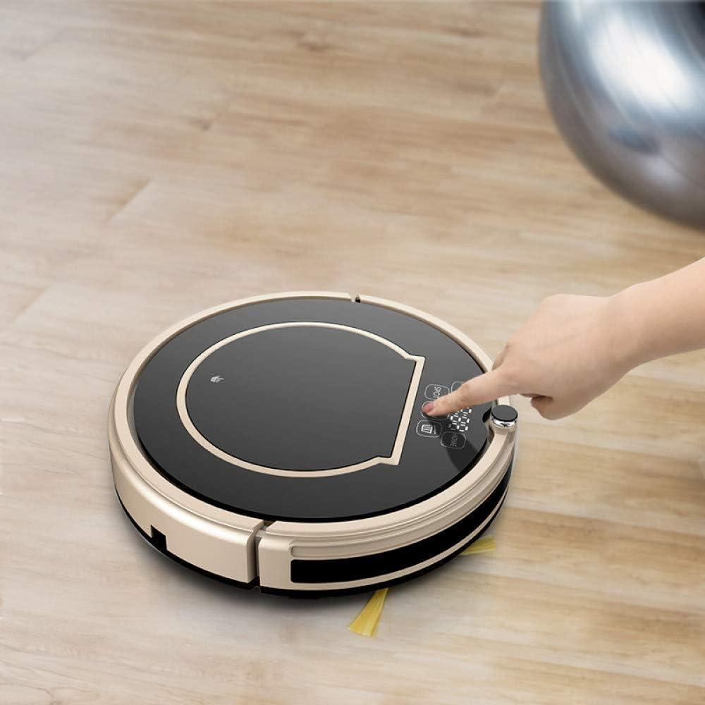 SEESEE.U Robot de Nettoyage Robot-Aspirateur SweepWop Mop Simultanément pour Les sols durs Recharge Automatique des Poils d\'animaux Anti-Collision, (Couleur: Noir) Black