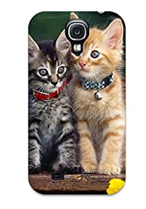 First-class Case Cover For Galaxy S4 Dual Protection Cover Cats With Collars