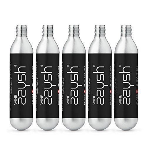 zzysh Argon Gas Cartridges Wine Preserver argon gas capsules, five pieces.