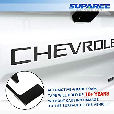 Red SUPAREE 2019 2020 Silverado Tailgate Letters Insert 3D Raised High Grade ABS Plastic Badge Nameplates Sticker