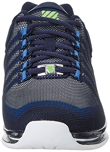 K-Swiss Men's Rinzler Trainer Low-Top Sneakers Black (Navy/White/Flash Green) T9OGp98a0