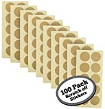 #7: 100-Pack of 1 Inch Gold Scratch Off Stickers. The decals are perfect for any personalized paper projects such as DIY baby gender reveal cards, bridal showers, kid charts, announcements, etc.