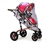 IROCH Rain cover for baby pram , Universal Pushchair Stroller Pram Buggy Transparent Rainproof Cover Rain Shade