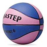 Chastep Toy Basketball, Mini Foam Ball 6 Inch. Soft and Bouncy, Safe to Play, Blue & Pink