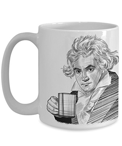 Coffee with Ludwig van Beethoven Mug - Famous Person Historical Quote - Philosophers Presidents Composers Humanitarians Inventors Explorers Writers (King Ludwig Beer)