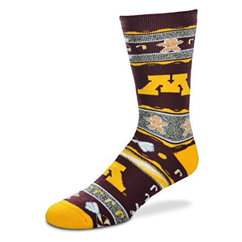 - For Bare Feet NCAA Ugly Christmas Holiday Socks-Minnesota Golden Gophers-Maroon-Large