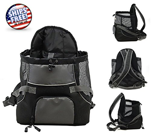 NEW Dog Backpack Puppy Small Carrier Travel Front Back Tote Pet Cat Carrying - Eyeglass Japanese Brands