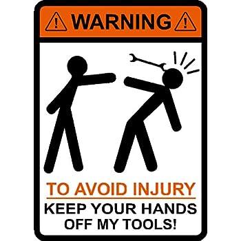 Amazon Com I Make Decals Warning To Avoid Injury Keep