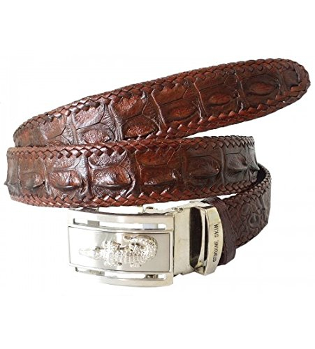 Authentic Sefaro Crocodile Skin Men's Hornback Wave Belt 37