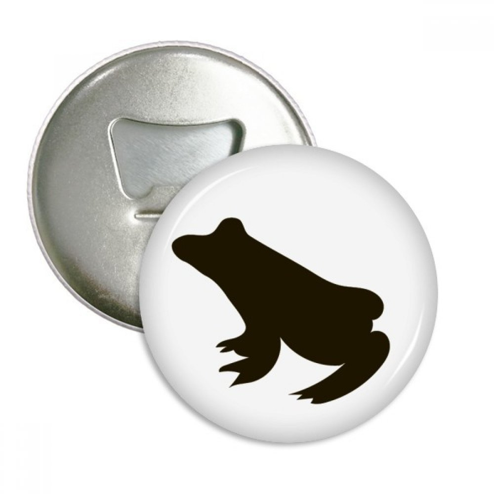 Black Frog Cute Animal Portrayal Round Bottle Opener Refrigerator Magnet Badge Button 3pcs Gift