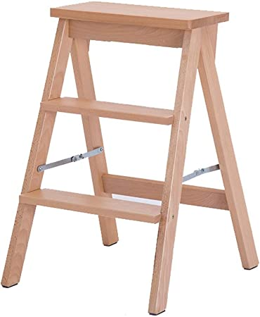 Taburete plegable de madera maciza Inicio del taburete plegable taburete de paso de escalera de heces
