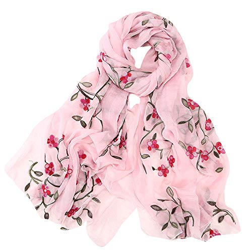 Hijab Scarfs for Women Hot Sale,deatu Clearance Ladies Embroidery Chiffon Wrap Shawls Headband Muslim Scarf(D)