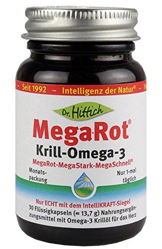 Krillöl mit Mega-Rot Krill-Omega-3 der neuen Generation für eine optimale Herzgesundheit. Hochdosierte Omega-3 Fettsäuren. 30 Krill Öl Kapseln in einer lichtundurchlässigen, umweltfreundlichen und sicheren Glasverpackung