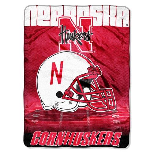 Officially Licensed NCAA Nebraska Cornhuskers Overtime Micro Raschel Throw Blanket, 60