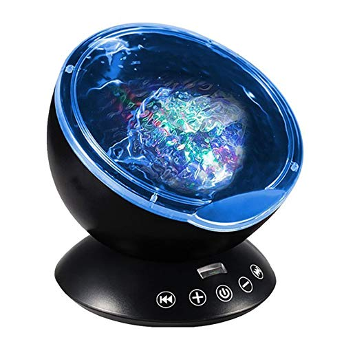 Ocean Wave Projector, LBell 12 LED Remote Control Undersea Projector Lamp,7 Color Changing Music Player Night Light Projector for Kids Adults Bedroom Living Room Decoration