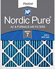 Nordic Pure 16x24x1 MERV 7 Pleated AC Furnace Air Filters, 16x24x1M7-6, 6 Pack